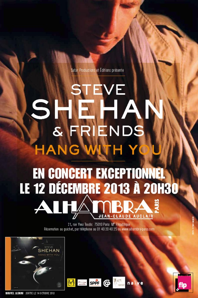 affiche concert Hang With You - Steve Shehan - Alhambra