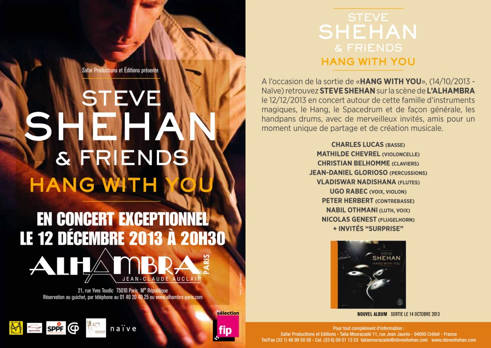 flyer concert hang with you steve shehan