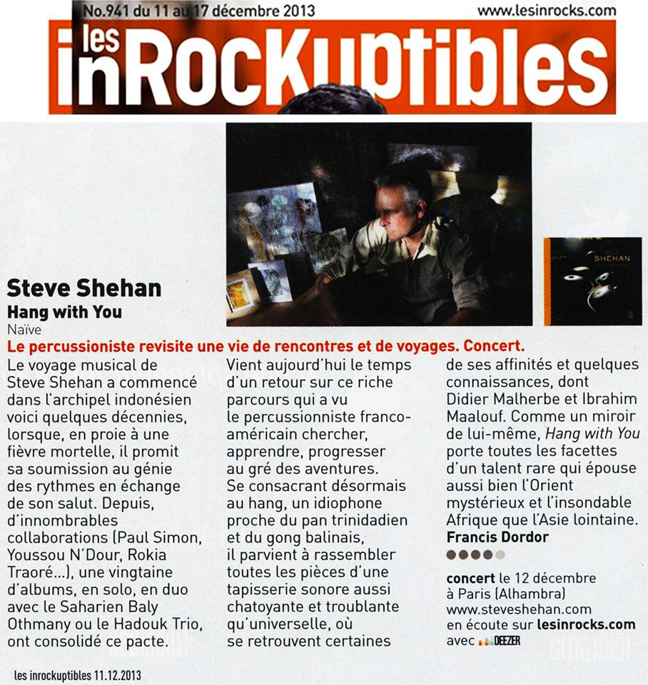 article inrocks - les inrockuptibles
