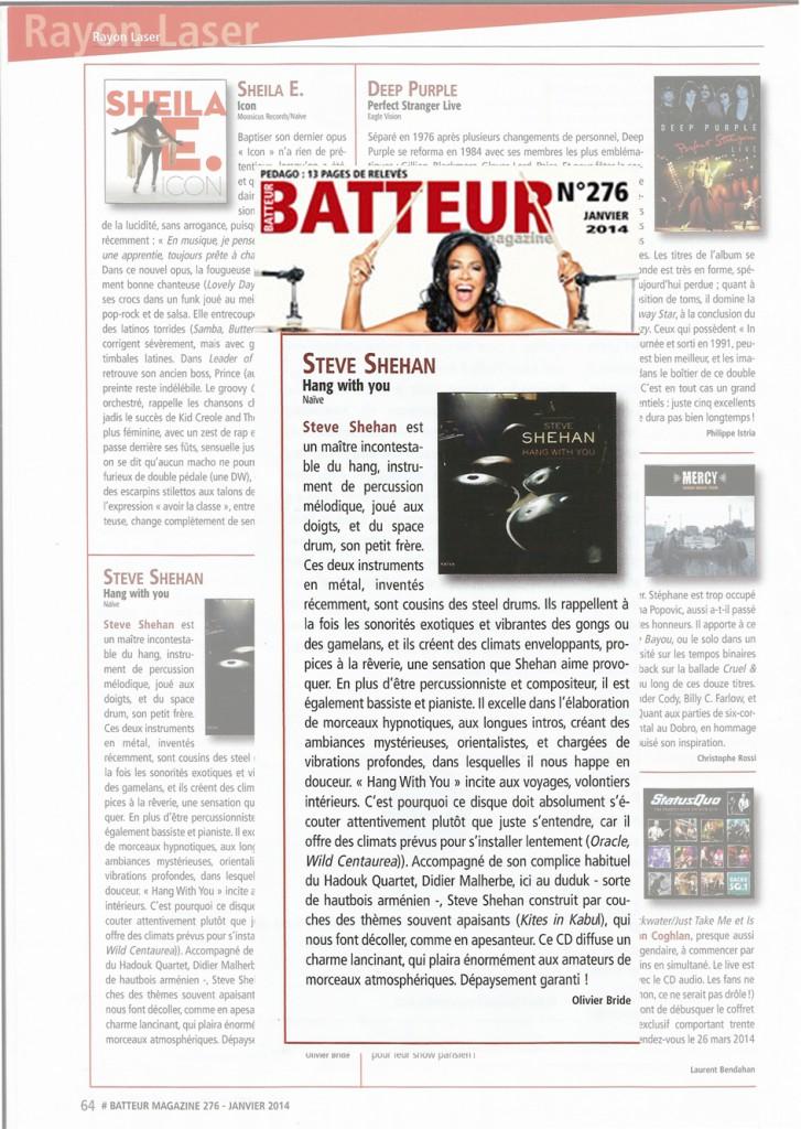 Chronique dans Batteur Mag