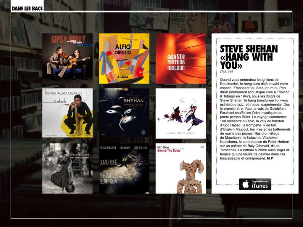 chronique Couleurs Jazz - Steve Shehan