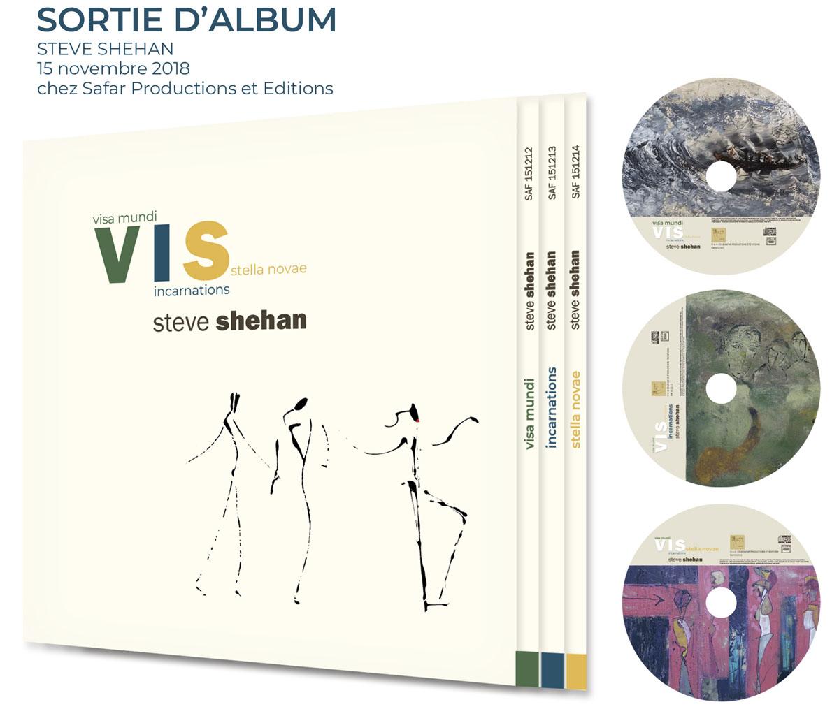 visuel coffret 3 CDs V.I.S - nouvel opus - Steve Shehan