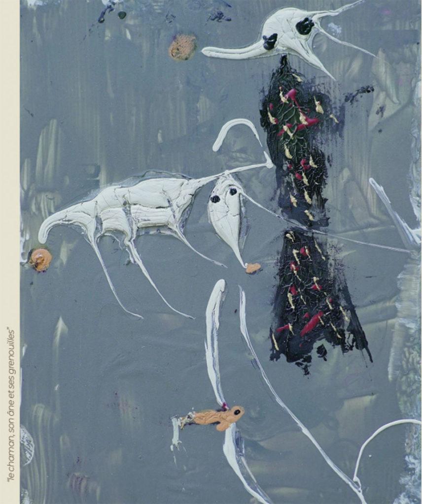 Incarnations - Peinture - Le chaman, son âme et ses grenouilles