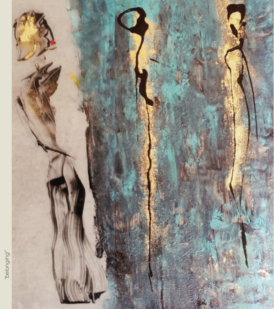 """Belonging"" - Peinture - Painting - Visa Mundi - Steve Shehan"