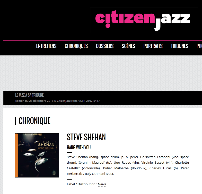 Chronique Citizen Jazz