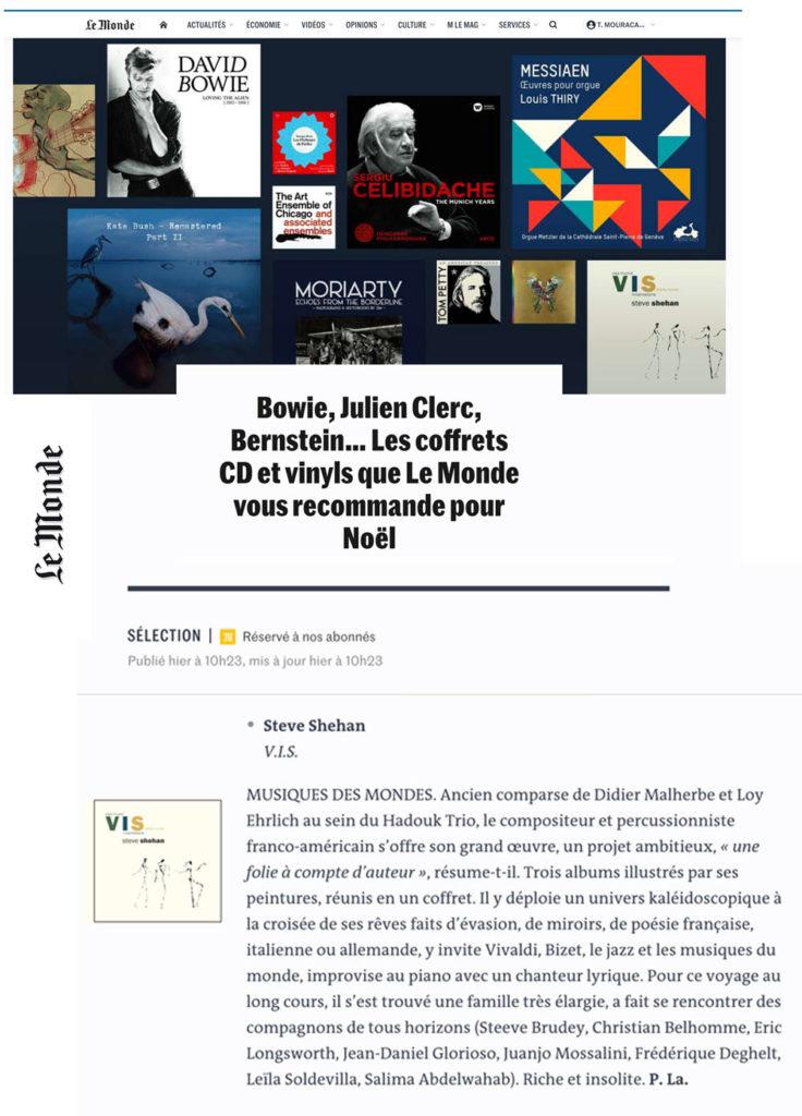 sélection Noël Le Monde - Patrick Labesse